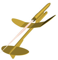 Semroc Flying Model Rocket Kit Swift Boost Glider™ KV-27