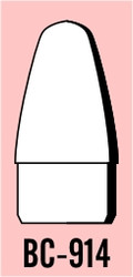 "Semroc Balsa Nose Cone #9 1.4"" Blunt Ogive   SEM-BC-914 *"