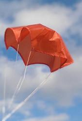 """Top Flight Parachute Competition Orange 09"""" Thin Rip Stop Nylon  PAR-9TM"""