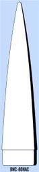 """Semroc Balsa Nose Cone BTH-80 10.6"""" Secant Ogive   SEM-BNC-80HAC *"""
