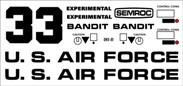 Semroc Decal - Bandit™ (2 Decal Set)   SEM-DKV-81 *