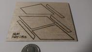 Semroc Laser-Cut Fins Baby Orion™  3/32 Balsa  Sheet  SEM-FA-31 *
