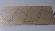 Semroc Laser-Cut Fins Galaxy Guppy™   3/32 Balsa  (4F) SEM-FES-0852 *