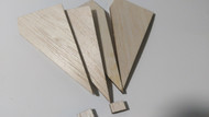 Semroc Laser-Cut Fins Honest John™  3/32 Balsa (Set of 4)  SEM-FES-1919 *
