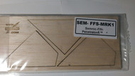 """Semroc Laser-Cut Fin - FSI Penetrator™ 3/32"""" Balsa(3 fins)  SEM-FFS-MRK1 *"""