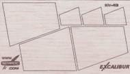 Semroc Laser-Cut Fins Excalibur™ 3/32 Balsa Sheet  SCE-5008 *