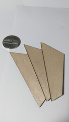 "Semroc Laser-Cut Fin - FSI Micro 1/16"" Basswood(3 fins)  SEM-FFS-1008 *"