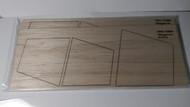 """Semroc Laser-Cut Fin - FSI Megatron 1/8"""" Balsa(6 fins)  SEM-FFS-1022 *"""