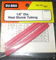 "Du-Bro Heat Shrink Tubing 1/8"" (3pk) 437 *"