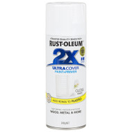 Rustoleum Painters Touch 2X Gloss White Paint & Primer 12oz Spray Paint  18747 *