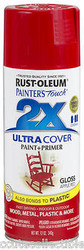Rustoleum Painters Touch 2X Gloss Apple Red Paint & Primer 12oz Spray Paint  18778 *