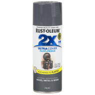 Rustoleum Painters Touch 2X Gloss Dark Grey Paint & Primer 12oz Spray Paint  18769 *