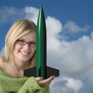 Mad Cow Flying Model Rocket Kit Lil Goblin 2.6''