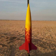 Mad Cow Flying Model Rocket Kit Squat 4''