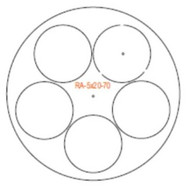 Semroc Centering Rings 5x BT-20 to BT-70(3pk)  RA-5x20-70A *