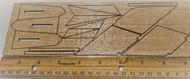 Semroc Laser-Cut Fins Star Blazer X-20  3/32 Balsa  Sheet SEM-FES-1342 *