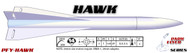"LOC Precision Flying Model Rocket Kit 1.63"" Hawk   PFY-HAWK"