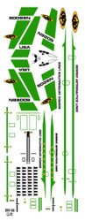 Semroc Decal - Orbital Transport™ Green  SEM-DKV-66GR *