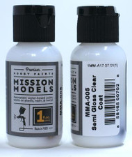 Mission Models Semi Gloss Clear 1fl oz  MMA-005