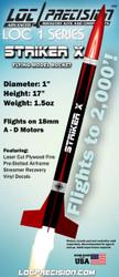 "LOC Precision Flying Model Rocket Kit 1"" Striker X"