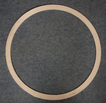 "The barrel gasket is about one-inch wide centered over 24"" which is the diameter of a 55 gallon steel drum."