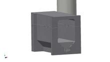 "Rocket Heater Batch Box - 4.5"" MiniHelix Firebox"