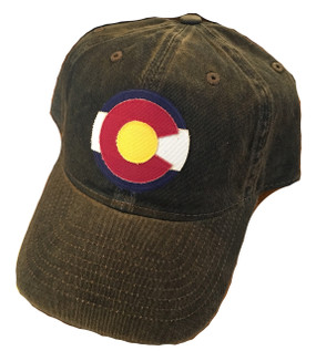 Black Colorado Flag logo cap Adjustable One Size