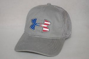 MENS UA BIG FLAG  LOGO MESH CAP