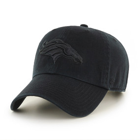 DENVER BRONCOS CLEAN UP CAP BLK