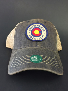 BRECK CO W/FLAG CIRCLE TRUCKER