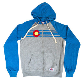 COLORADO BLUE/GREY ZIP HOODIE