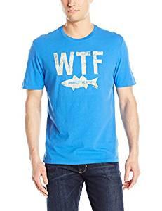 MENS T WTF FISH