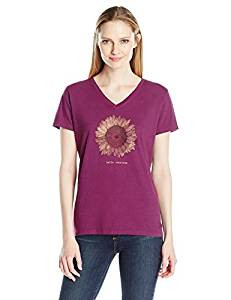 WOMENS V SUNFLOWER ENGRAVED