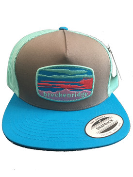 BRECK SUNSET CAP GREY/TEAL