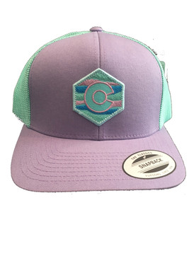 HEXAGON CO FLAG LILAC