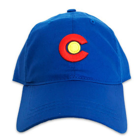 CO FLAG LOGO DAD CAP BLUE