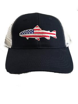 TROUT CAP AMERICAN FLAG