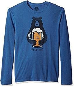 MENS SMOOTH L/S T BEER HUG