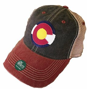 CO FLAG LOGO TRUCKER BLK/CARDINAL
