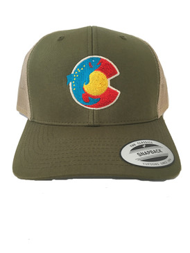FISH TROUT CO FLAG TRUCKER