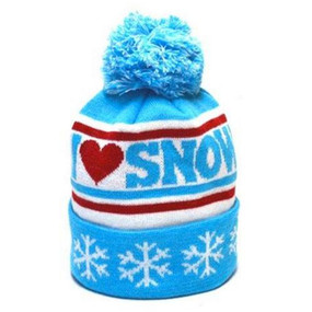 I HEART SNOW POM BEANIE