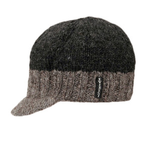 KNIT CAP VISOR BLACK TOP