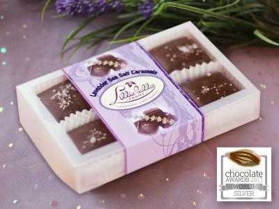 6-count box Lavender Fleur du Sel Caramels