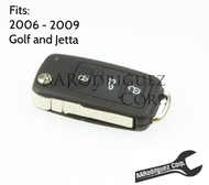 MK5 Key FOB - Genuine VW - 5K0-837-202-R - Golf/Jetta/New Beetle (5K0837202R) 1K0959753H, 1K0959753P, HLO-1K0-959-753-P  FCC ID: NBG92596263