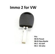 Valet Key - Immo 2 for VW-Waterproof!