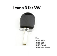 Valet Key - Immo 3 for VW - Waterproof!