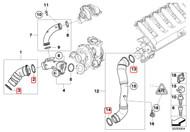 335D Intercooler Seal Kit for OEM Pipes (11617791470/11618506786/11617791469/11617790547)