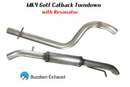 "2.5"" or 3"" MK4 TDI Catback Turndown by BuzzKen (Buzz-mk4-turndown) - 1"