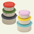 Kids Konserve Nesting Trio Stainless Steel Containers with Leak Proof Lids