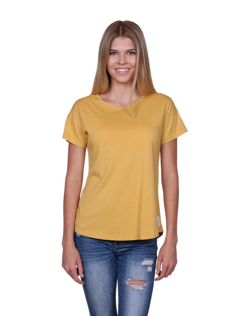 Yellow Womens t-shirt - SeaShell style - Supima® Cotton